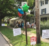 A team effort created a successful 3-day yard sale at the home of chairperson, Poom Taylor.