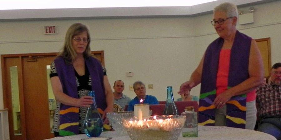 Water Ingathering Ceremony held at the First Unitarian Universalist Church