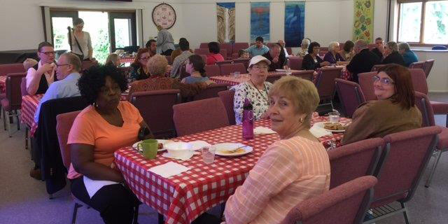 Congregation members and friends enjoyed an Italian Buffet together after the Pledge Kickoff on October 16, 2016.