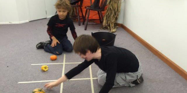 The Harvest Festival gourd tic tac toe made the game more exciting.